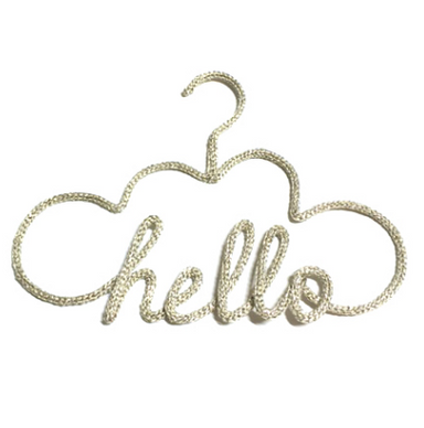 Hello Hanger - Gold - Oh Happy Fry - we ship worldwide