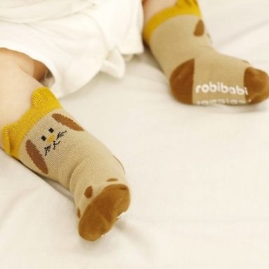 Brown Puppy Socks - Oh Happy Fry - we ship worldwide