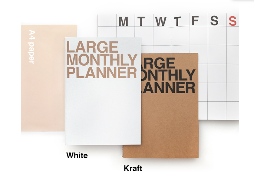 Large Monthly Planner - 2 colours