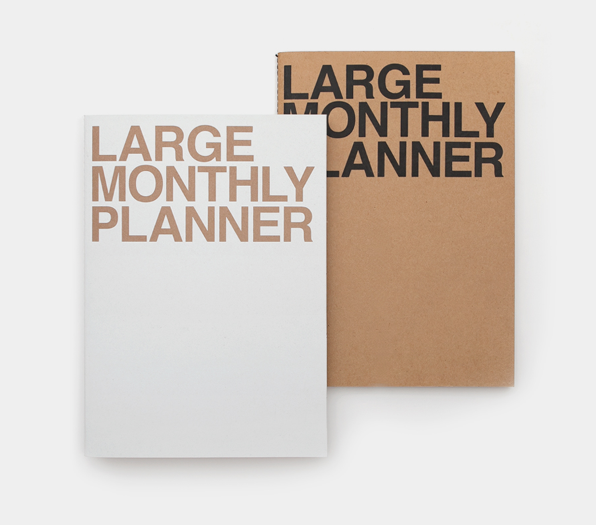 Large Monthly Planner - 2 colours - Oh Happy Fry - we ship worldwide