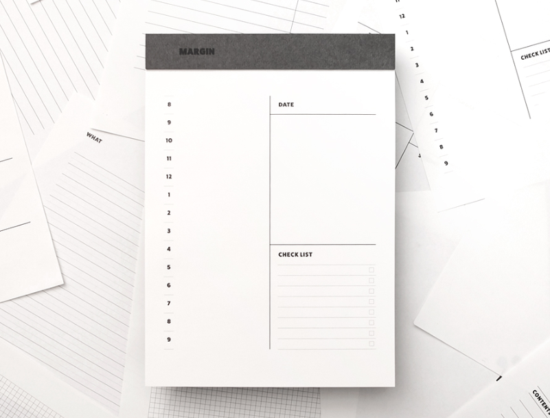 Simple Margin Daily Writing Pad (120 Sheets) - Oh Happy Fry - we ship worldwide