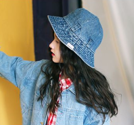 Denim Bucket Hat - Oh Happy Fry - we ship worldwide