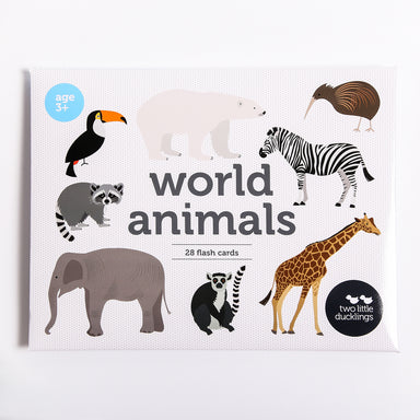 World Animal Flash Cards - Oh Happy Fry - we ship worldwide
