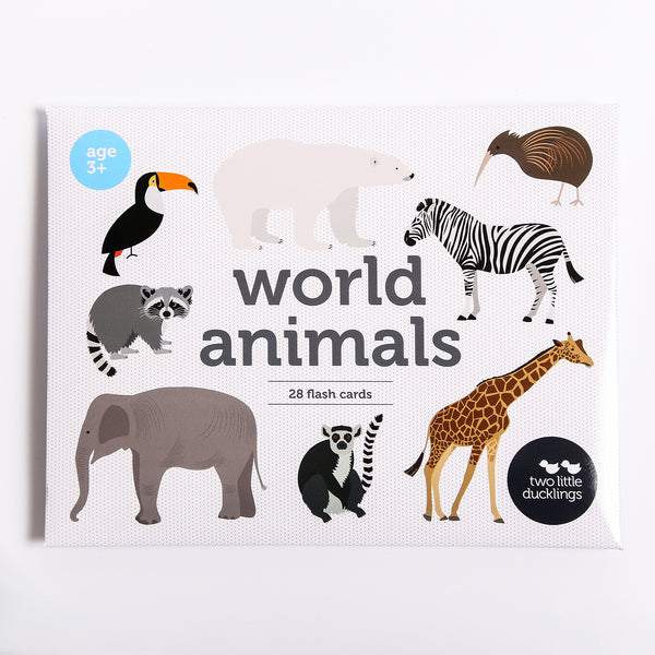 BACKORDER World Animal Flash Cards