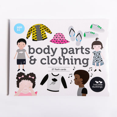 Body Parts & Clothing Flash Cards - Oh Happy Fry - we ship worldwide