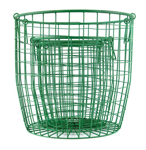 Wire Basket in Forest Green