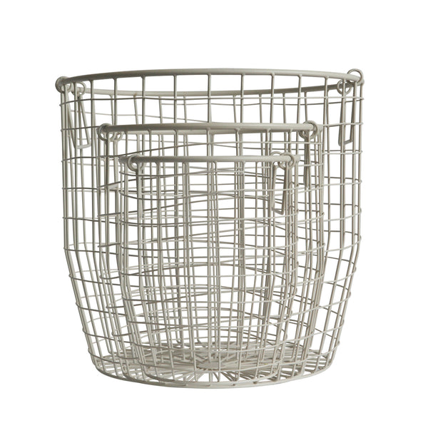 Wire Basket in White - Oh Happy Fry  - 1