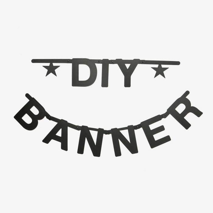 Black DIY Word Banner - Oh Happy Fry - we ship worldwide
