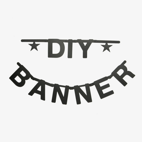 Black DIY Word Banner - Oh Happy Fry  - 1