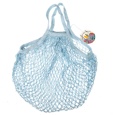 Baby Blue French Style String Shopping Bag