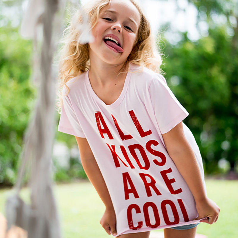 All Kids Are Cool T-shirt - Red - Oh Happy Fry  - 2