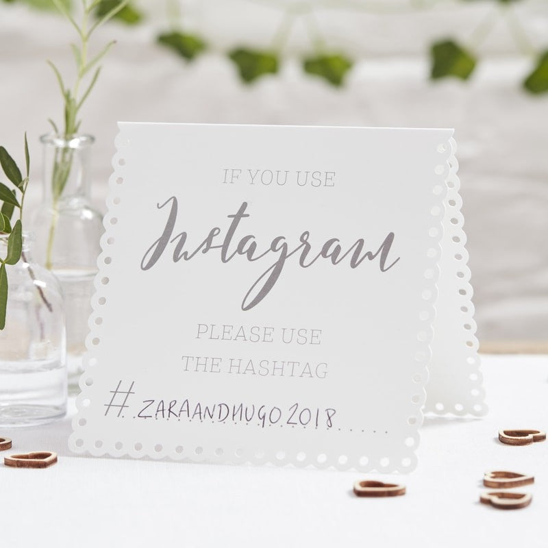 Instagram tent Cards