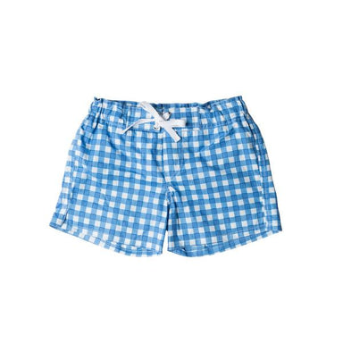 Blue Check Beach Shorts