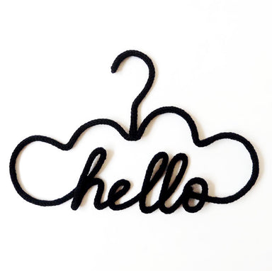Hello Hanger - Black - Oh Happy Fry - we ship worldwide