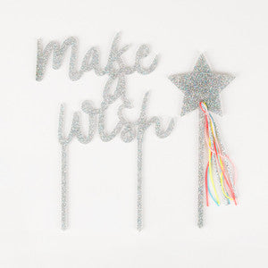 Make A Wish Acrylic Cake Topper