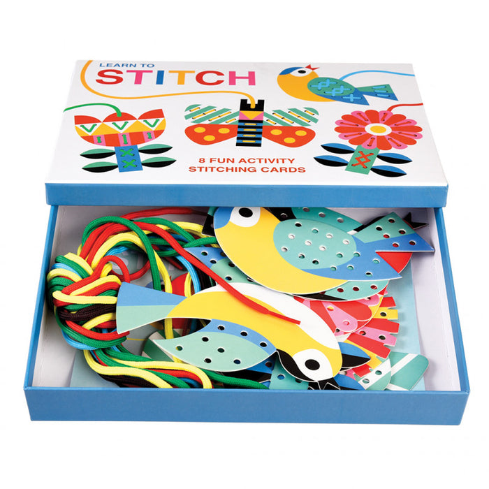 Cardboard Learn To Stitch Activity - Oh Happy Fry - we ship worldwide