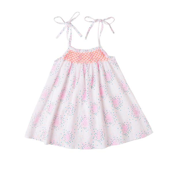 Cecilia Dress Dot Swirl - Oh Happy Fry - we ship worldwide