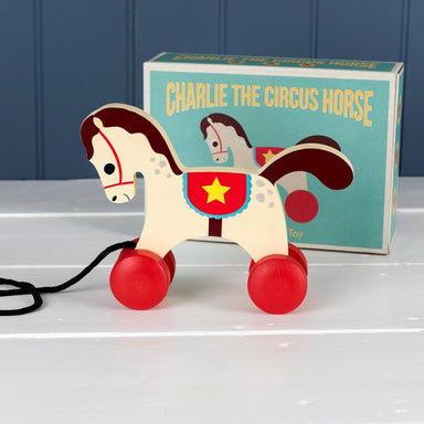 Charlie The Circus Horse Pull Toy - Oh Happy Fry - we ship worldwide