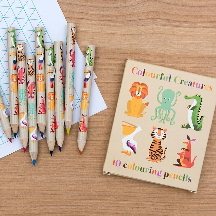 Colourful Creatures Colouring Pencils (set Of 10) - Oh Happy Fry - we ship worldwide