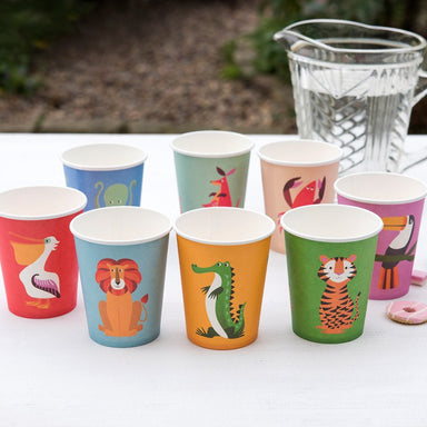 8 Colourful Creatures Paper Cups