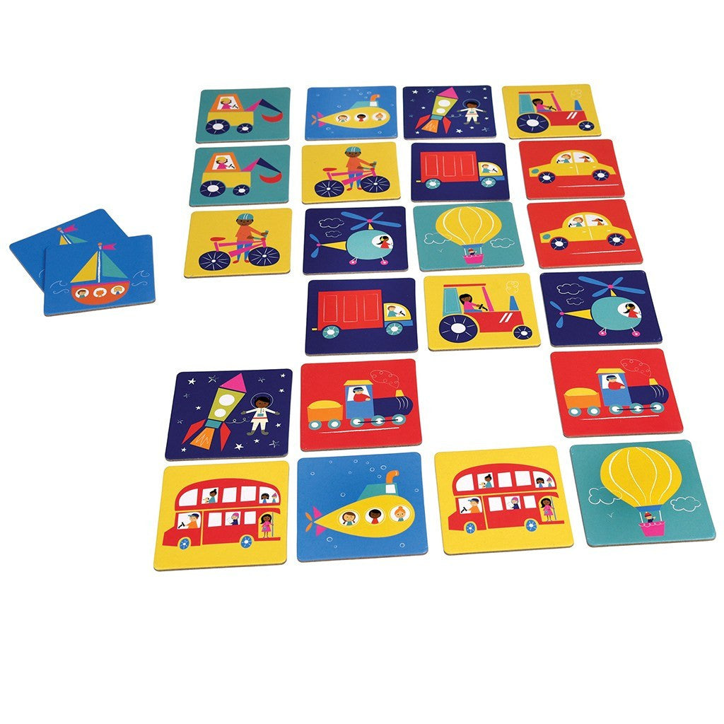 Transport Memory Card Game