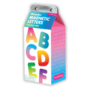 Rainbow ABC Wooden Magnetic Alphabet set - Oh Happy Fry - we ship worldwide