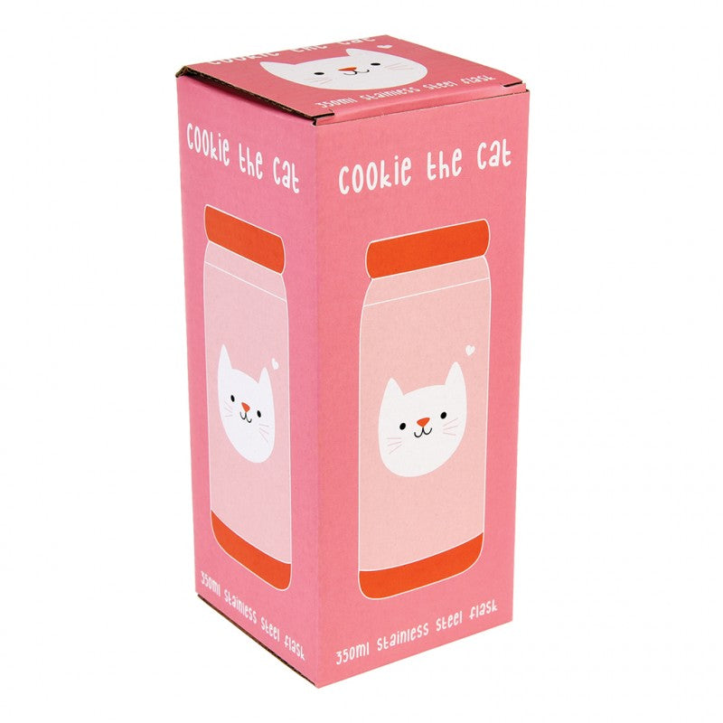 Cookie The Cat Flask - Oh Happy Fry - we ship worldwide