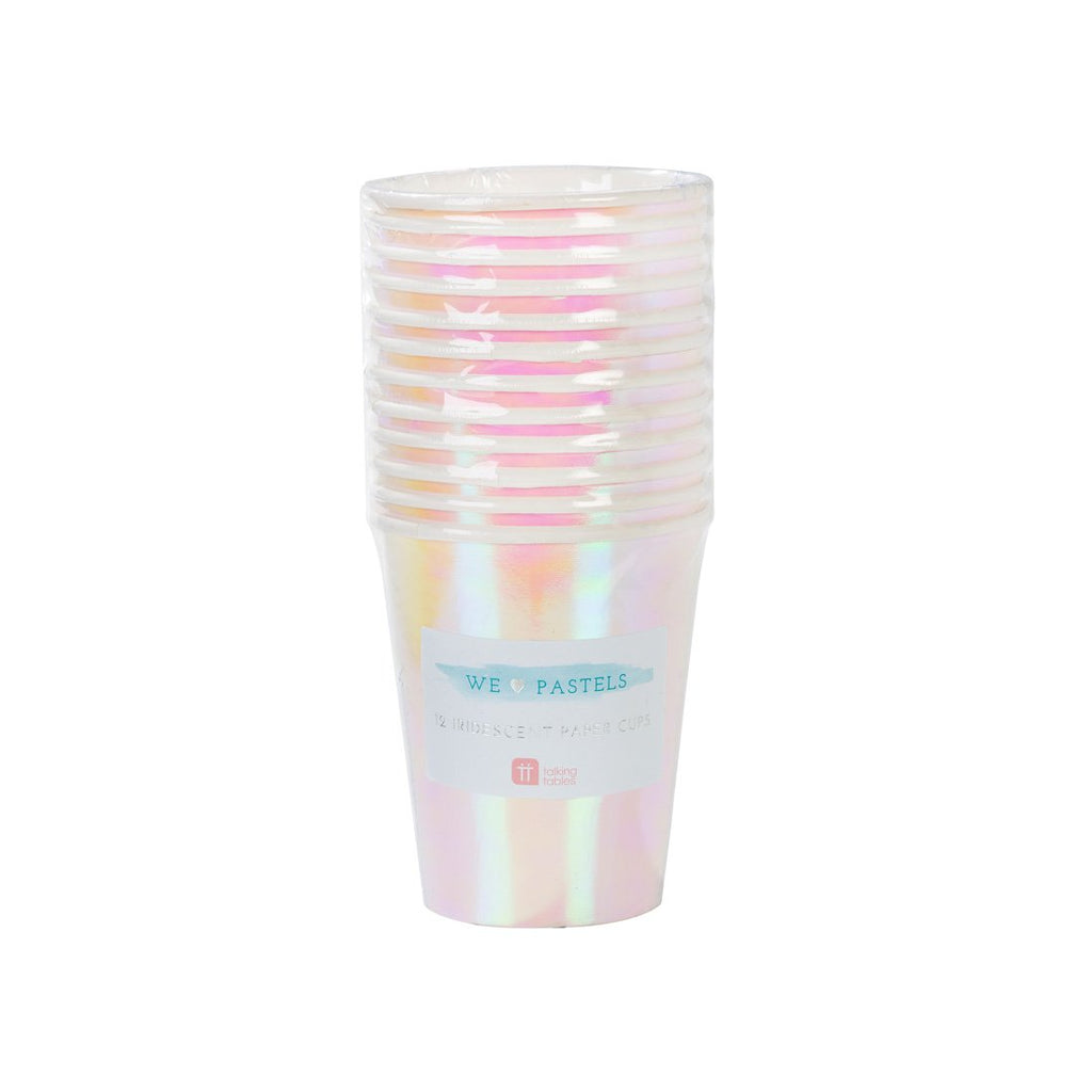 Iridescent Paper Cup - Pack of 12