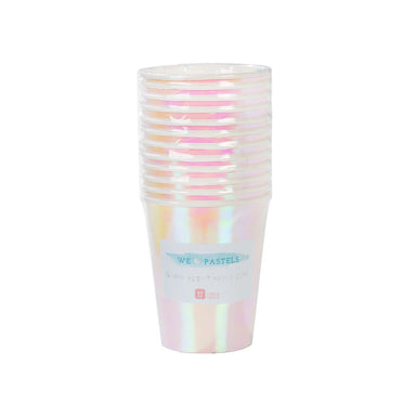 Iridescent Paper Cup - Pack of 12 - Oh Happy Fry - we ship worldwide
