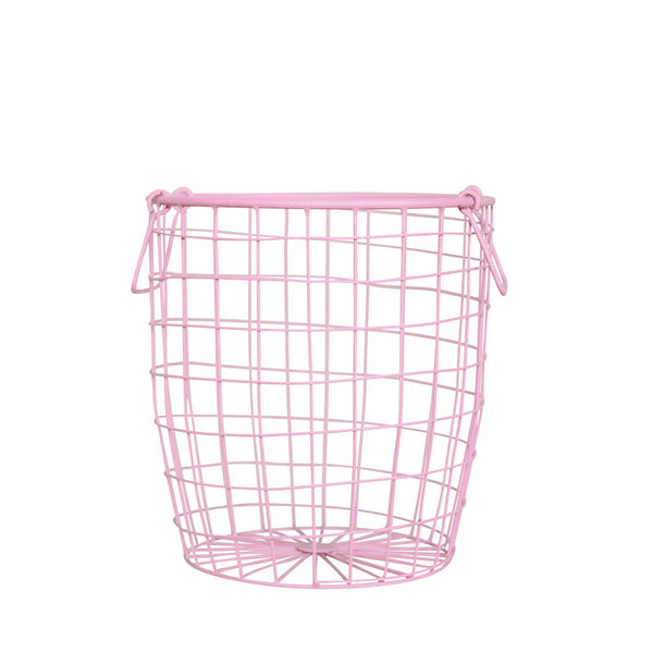 Medium Wire Basket in Pink - Oh Happy Fry  - 1