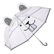 Bloomingville Mini Umbrella Clear Face Plastic Ears - Oh Happy Fry - we ship worldwide