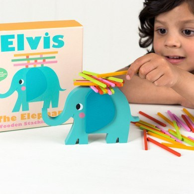 Elvis The Elephant Stacking Sticks Game - Oh Happy Fry - we ship worldwide