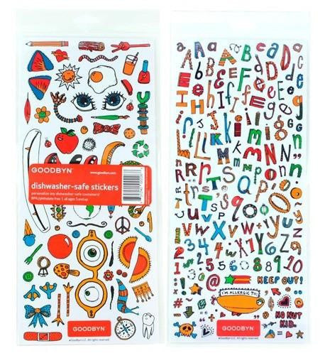 Goodbyn Dishwasher-Safe Sticker Set