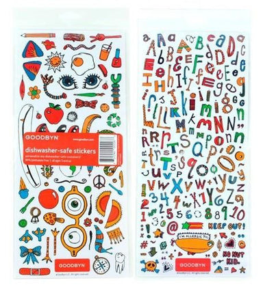 Goodbyn Dishwasher-Safe Sticker Set - Oh Happy Fry - we ship worldwide