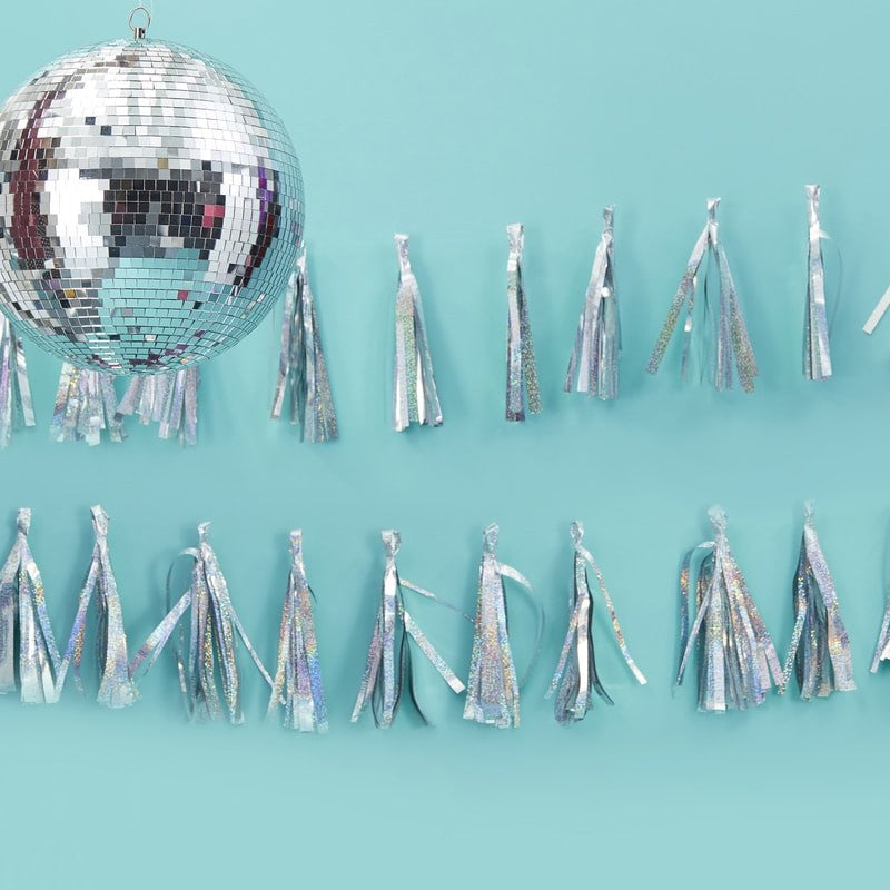 Iridescent Sparkle Tassel Garland - Oh Happy Fry - we ship worldwide