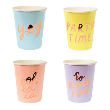 Typographic Party Cups - Oh Happy Fry - we ship worldwide