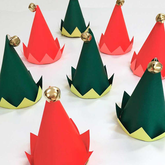 Elf Hats - Set of 8 - Oh Happy Fry - we ship worldwide
