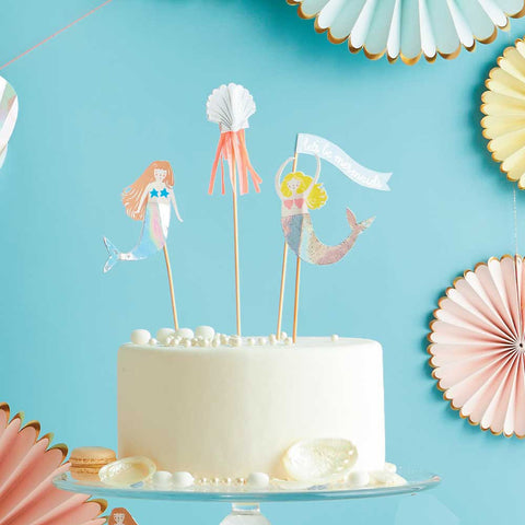 Let's Be Mermaid Cake Toppers
