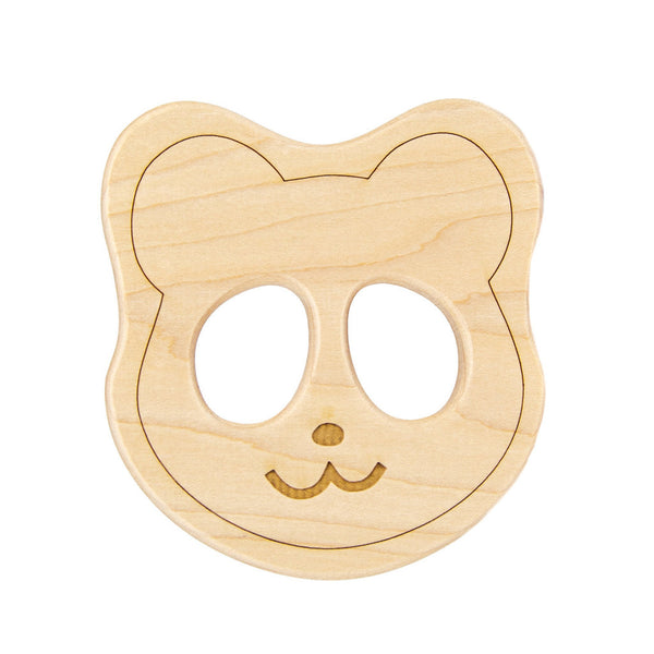 Wood Toy Panda Teether - Oh Happy Fry  - 1