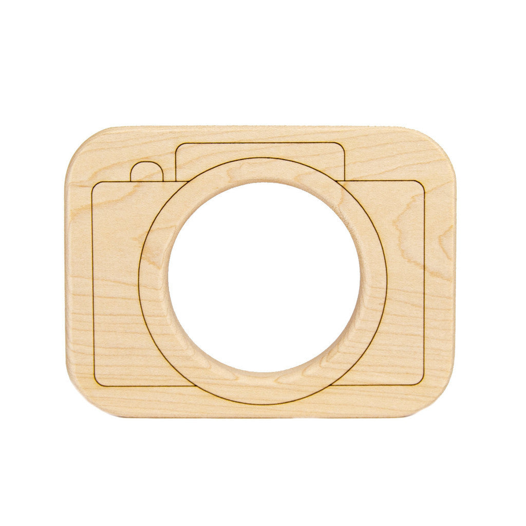 Wood Toy Camera Teether - Oh Happy Fry  - 1