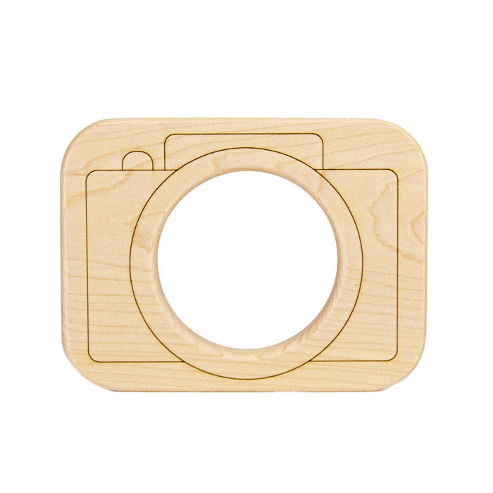 Wood Toy Camera Teether - Oh Happy Fry - we ship worldwide