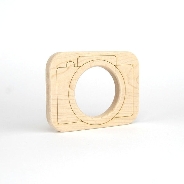 Wood Toy Camera Teether - Oh Happy Fry  - 2