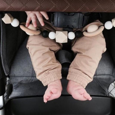 Galactic Pram String - BPA free silicone and Eco wood teething accessory - Oh Happy Fry - we ship worldwide