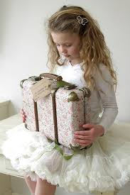 Vintage Floral Suitcase - Roses - Oh Happy Fry - we ship worldwide