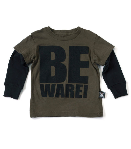 Olive Beware T-shirt - Oh Happy Fry  - 1
