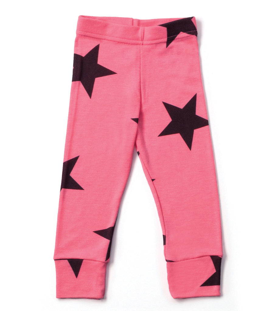 Pink Star Leggings - Oh Happy Fry - we ship worldwide