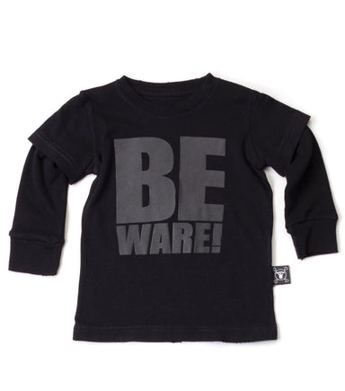 Black Beware T-shirt - Oh Happy Fry