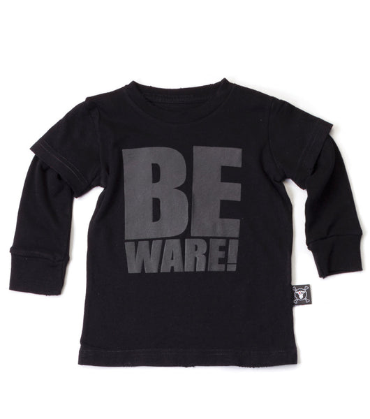 Black Beware T-shirt - Oh Happy Fry  - 1