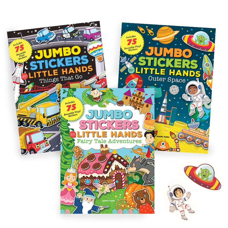 Jumbo Stickers For Little Hands (Includes 75 Stickers) - Oh Happy Fry - we ship worldwide