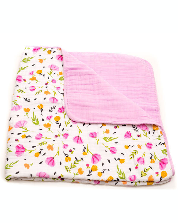 Cotton Muslin Quilt - Berry & Bloom - Oh Happy Fry  - 1
